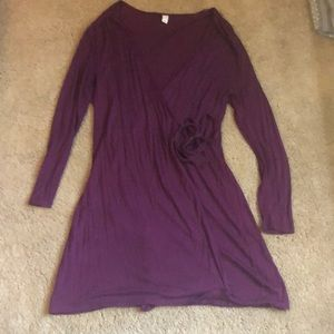 Old Navy long sleeve wrap dress